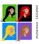 young womens vector | Shutterstock .eps vector #13216063