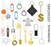 cartoon color keychains... | Shutterstock .eps vector #1321622681