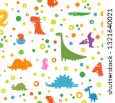 seamless pattern with funny... | Shutterstock .eps vector #1321640021
