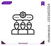 collaboration icon vector ....