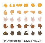 hand gesture emojis color icons ... | Shutterstock .eps vector #1321675124