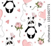 seamless pattern with valentine'... | Shutterstock .eps vector #1321682771
