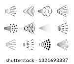 spray icon. bottle air sprayer  ... | Shutterstock .eps vector #1321693337