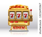777 jackpot slot machine.... | Shutterstock .eps vector #1321693367