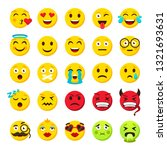 emoticons set. emoji faces... | Shutterstock .eps vector #1321693631
