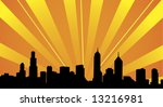skyline vector | Shutterstock .eps vector #13216981