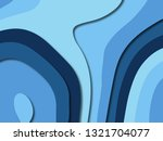 3d abstract paper art style ... | Shutterstock . vector #1321704077