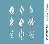 vapour mist vector icon... | Shutterstock .eps vector #1321744127