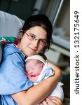 mother and son just after... | Shutterstock . vector #132175649