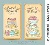 card collection pastries and...   Shutterstock .eps vector #1321759061