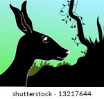 illustration of a silhouette of ... | Shutterstock .eps vector #13217644