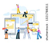 people are working to increase... | Shutterstock .eps vector #1321788311