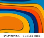 3d abstract paper art style ... | Shutterstock . vector #1321814081