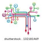 social media concept | Shutterstock .eps vector #132181469