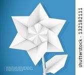 paper star flower | Shutterstock .eps vector #132182111