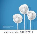paper roses | Shutterstock .eps vector #132182114