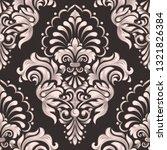 vector damask seamless pattern... | Shutterstock .eps vector #1321826384