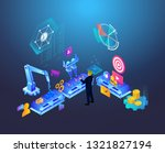 automated marketing and seo... | Shutterstock .eps vector #1321827194