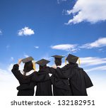 four graduate students looking... | Shutterstock . vector #132182951