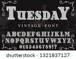 vintage font handcrafted vector ...   Shutterstock .eps vector #1321837127