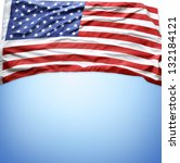 closeup of american flag on... | Shutterstock . vector #132184121