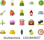 color flat icon set saw flat... | Shutterstock .eps vector #1321844027