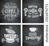 set of coffee quotes on the... | Shutterstock . vector #1321874771