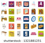 furniture and interior cartoon... | Shutterstock .eps vector #1321881251