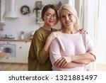 cozy family portrait of stylish ... | Shutterstock . vector #1321881497