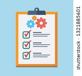 technical support check list... | Shutterstock .eps vector #1321885601