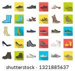 different shoes cartoon flat... | Shutterstock .eps vector #1321885637