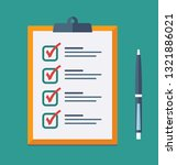 check list flat icon. vector... | Shutterstock .eps vector #1321886021