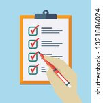 check list flat icon. vector... | Shutterstock .eps vector #1321886024