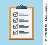 check list flat icon. vector... | Shutterstock .eps vector #1321886027