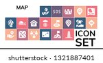 map icon set. 19 filled map... | Shutterstock .eps vector #1321887401