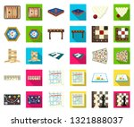 board game cartoon flat icons... | Shutterstock .eps vector #1321888037