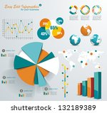 set elements of infographics | Shutterstock .eps vector #132189389