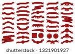 big pack of vintage embroidered ... | Shutterstock . vector #1321901927