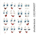 face expression set. vector... | Shutterstock .eps vector #1321904357