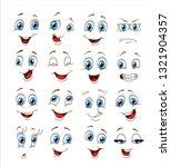face expression set. vector... | Shutterstock .eps vector #1321904357