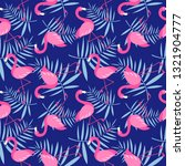 seamless pattern with pink... | Shutterstock .eps vector #1321904777