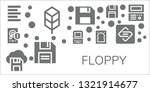 floppy icon set. 11 filled... | Shutterstock .eps vector #1321914677