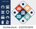 rhythm icon set. 13 filled... | Shutterstock .eps vector #1321915694