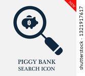 search piggy bank icon....