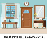 cozy home entrance hall... | Shutterstock .eps vector #1321919891