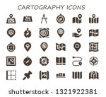 cartography icon set. 30 filled ...   Shutterstock .eps vector #1321922381