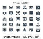 wide icon set. 30 filled wide... | Shutterstock .eps vector #1321923104
