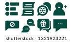 forum icon set. 8 filled forum... | Shutterstock .eps vector #1321923221