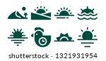 horizon icon set. 8 filled... | Shutterstock .eps vector #1321931954