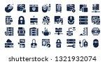 www icon set. 32 filled www... | Shutterstock .eps vector #1321932074